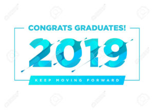 Congratulations Graduates Vector Logo. Graduation Background.. within Graduation Banner Template