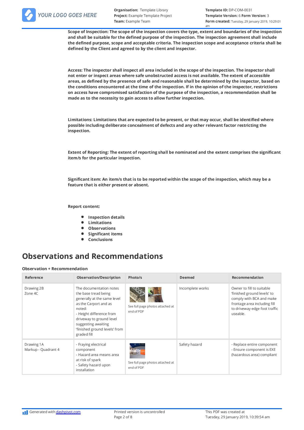 Construction Expert Witness Report Example And Editable Template Within Expert Witness Report Template