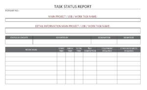 Construction Project Progress Report Format 14 – Elsik Blue with Job Progress Report Template