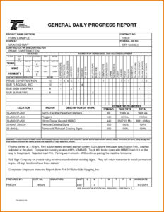 Construction Site Progress Report Template 7 – Elsik Blue Cetane pertaining to Site Progress Report Template