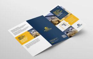 Construction Tri-Fold Brochure #companies#construction in Adobe Illustrator Tri Fold Brochure Template
