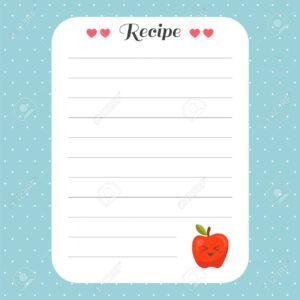 Cookbook Template Page. Recipe Card Template. For Restaurant,.. for Restaurant Recipe Card Template