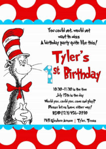 Cool Create Easy Dr Seuss Birthday Invitations | Invitations regarding Dr Seuss Birthday Card Template