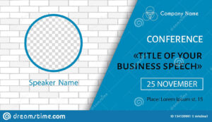 Corporate Announcement Poster Template. Vector Flyer For for Event Banner Template