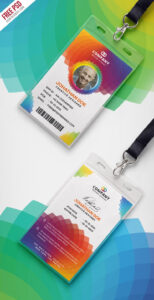 Corporate Branding Identity Card Free Psd | Psd Print for Media Id Card Templates
