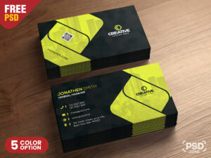 Corporate Business Card Design Psd – Psd Zone throughout Name Card Design Template Psd