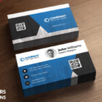 Corporate Business Card Free Psd Template – Download Psd Within Visiting Card Psd Template