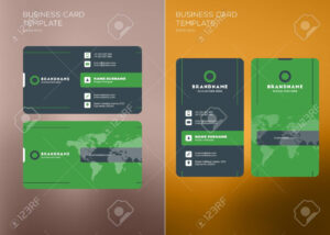 Corporate Business Card Print Template. Personal Visiting Card.. inside Company Business Cards Templates