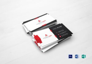 Corporate Business Card Template inside Company Business Cards Templates