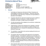Corporate Credit Card Procedures Manual 706-A inside Company Credit Card Policy Template