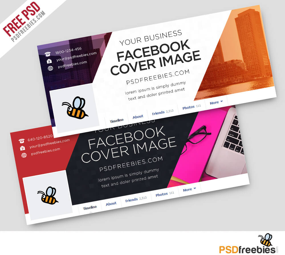 Corporate Facebook Covers Free Psd Template | Psdfreebies For Facebook Banner Template Psd