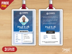 Corporate Identity Card Psd Template – Psd Zone with College Id Card Template Psd
