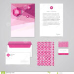 Corporate Identity Design Template. Documentation For Throughout Business Card Letterhead Envelope Template
