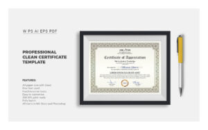 Corporate & Modern Word Multipurpose Certificate Template in Professional Certificate Templates For Word