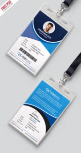 Corporate Office Identity Card Template Psd | Psdfreebies pertaining to Work Id Card Template