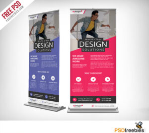 Corporate Outdoor Roll-Up Banner Free Psd | Psdfreebies regarding Outdoor Banner Template