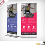 Corporate Outdoor Roll Up Banner Free Psd | Psdfreebies With Regard To Outdoor Banner Design Templates