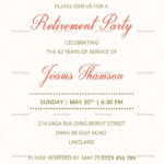 Corporate Retirement Party Invitation Template | Download in Retirement Card Template