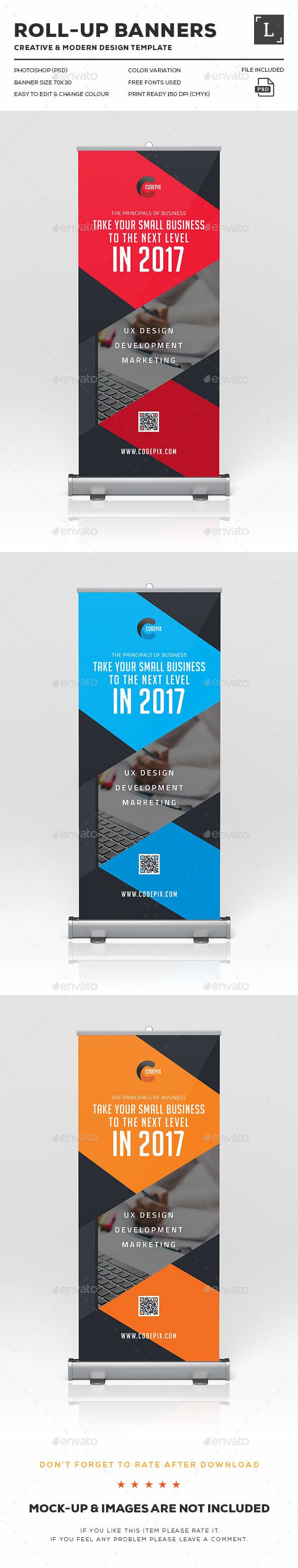 Corporate Roll Up Banner Design Template – Signage Print With Regard To Retractable Banner Design Templates