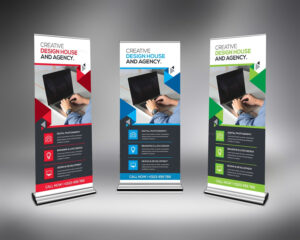 Corporate Rollup Banner Template 000348 with regard to Pop Up Banner Design Template