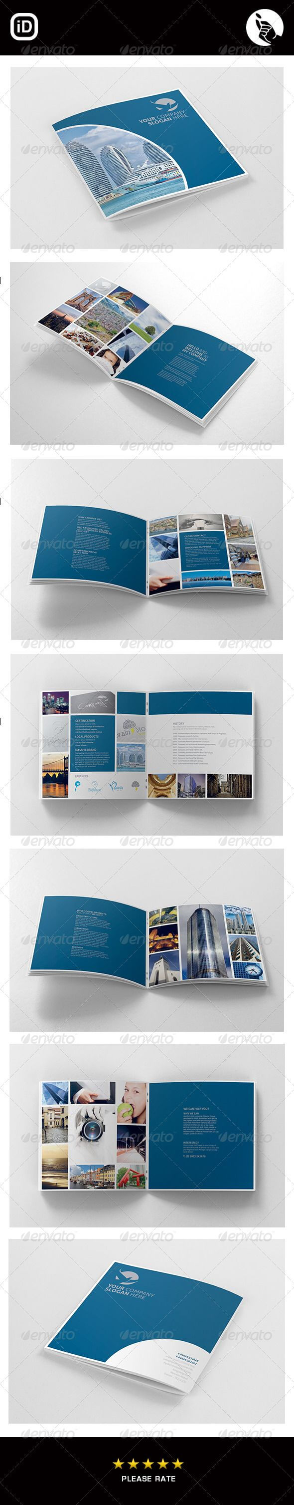 Corporate Square 12 Page Brochure | Design: Layout Intended For 12 Page Brochure Template