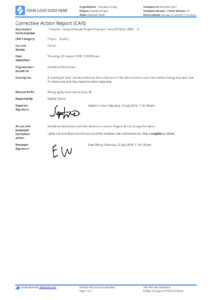 Corrective Action Report Template (Car) – Better Than Word intended for Corrective Action Report Template
