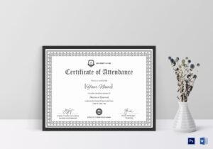 Course Attendance Certificate Template inside Attendance Certificate Template Word