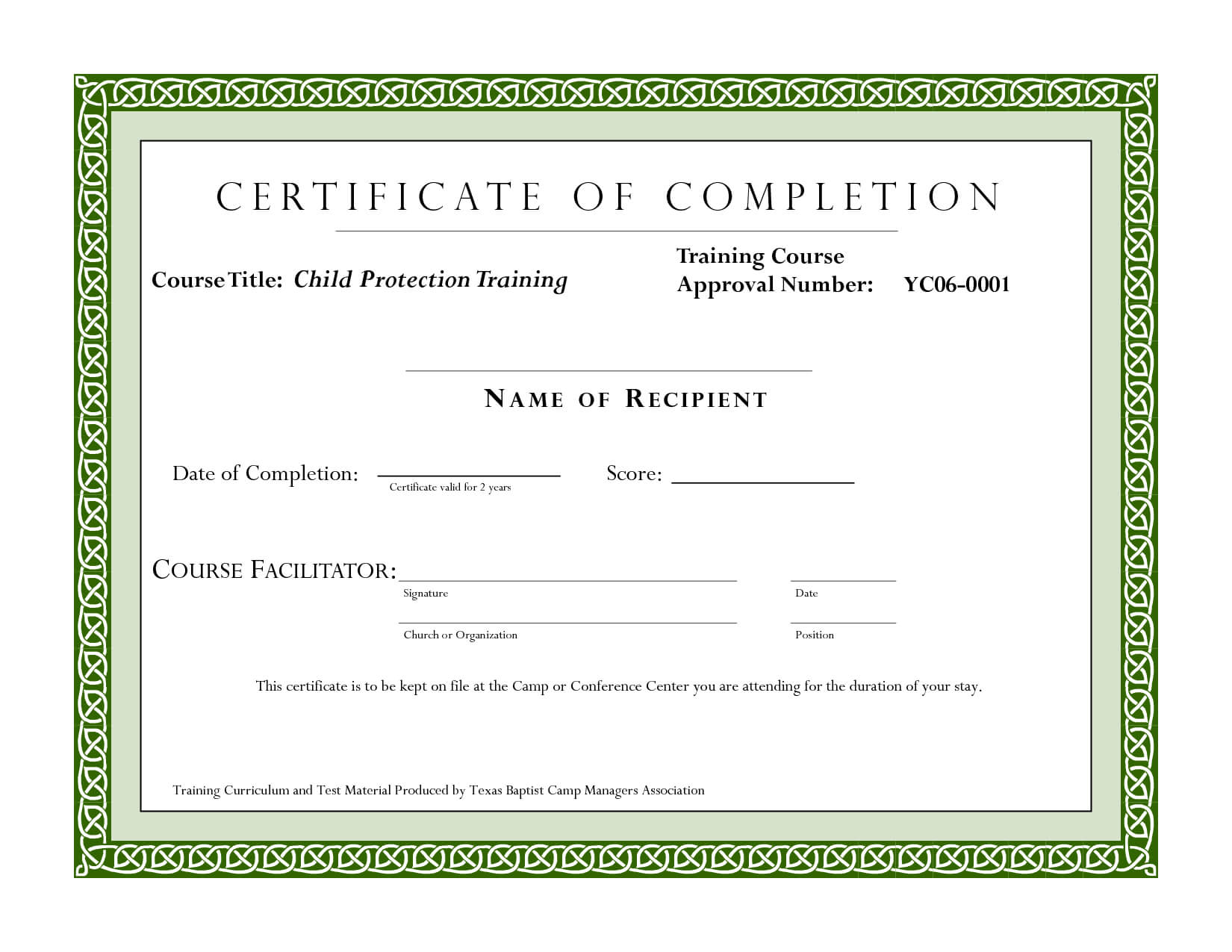 Course Completion Certificate Template | Certificate Of Regarding Safe Driving Certificate Template