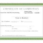 Course Completion Certificate Template | Certificate Of throughout Template For Training Certificate