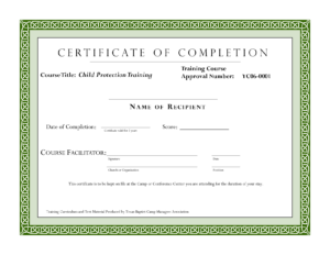 Course Completion Certificate Template | Certificate Of Within Class Completion Certificate Template