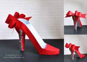 Crafting In The Night: 3D High Heel Shoe – Svgcuts | 3D With High Heel Template For Cards