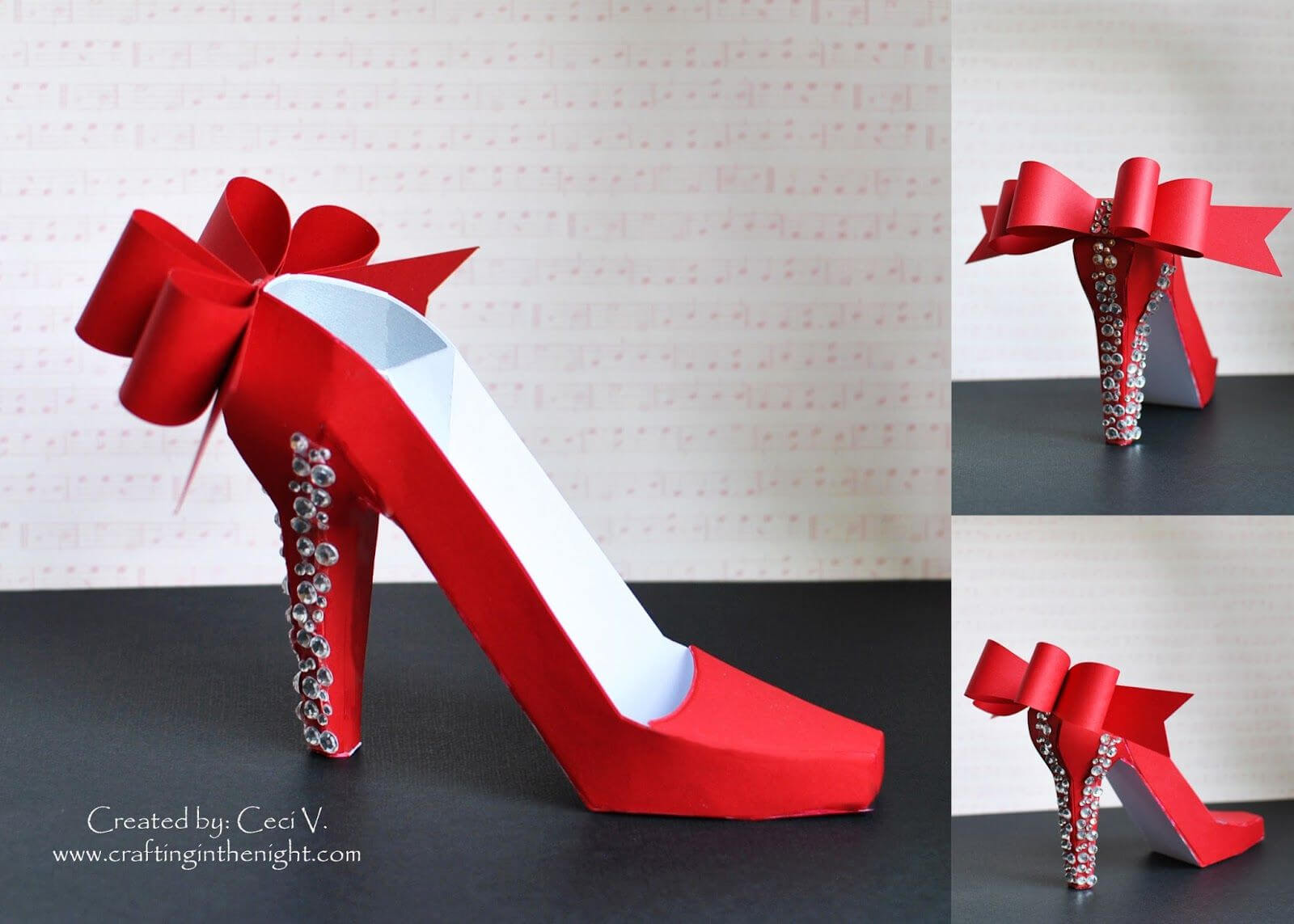 Crafting In The Night: 3D High Heel Shoe - Svgcuts | 3D with High Heel Template For Cards