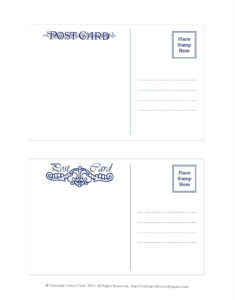 Crafting With Style: Free Postcard Templates   Postcards throughout Free Blank Postcard Template For Word