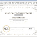 Create A Certificate Of Recognition In Microsoft Word Pertaining To Officer Promotion Certificate Template