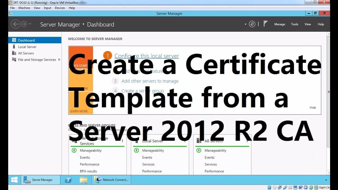 Create A Certificate Template From A Server 2012 R2 Certificate Authority Within Certificate Authority Templates