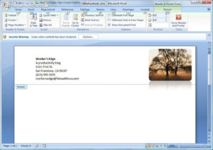 Create A Letterhead Template In Microsoft Word – Cnet intended for Header Templates For Word