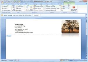 Create A Letterhead Template In Microsoft Word - Cnet within How To Create A Letterhead Template In Word