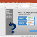 Create A Quiz In Powerpoint With Quiz Tabs Powerpoint Template Inside Trivia Powerpoint Template