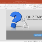 Create A Quiz In Powerpoint With Quiz Tabs Powerpoint Template Throughout How To Create A Template In Powerpoint