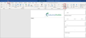 Create A Word Letterhead Template | Productivity Portfolio intended for Header Templates For Word