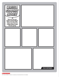 Create Your Own Graphic Novel Template | Printables: Ages 8 in Printable Blank Comic Strip Template For Kids