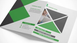 Creating A Bi Fold Brochure Mockup In Adobe Photoshop regarding Two Fold Brochure Template Psd