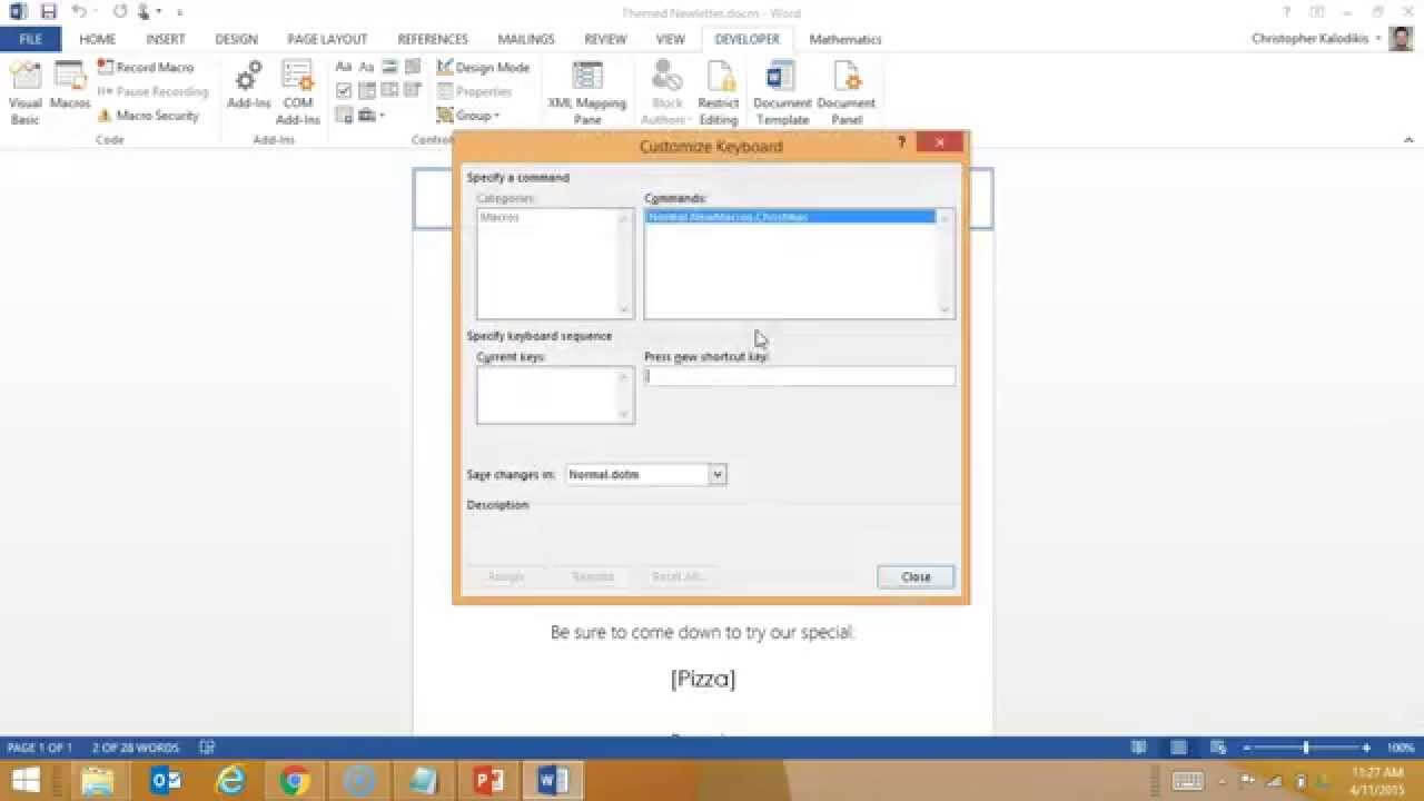Creating A Macro Enabled Template In Word With Regard To Word Macro Enabled Template