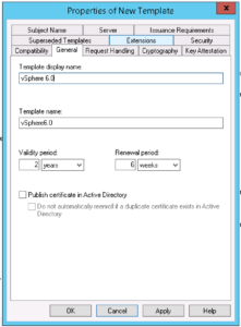 Creating A Vsphere 6 Certificate Template In Active pertaining to Active Directory Certificate Templates