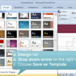 Creating And Setting A Default Template Or Theme In Powerpoint Throughout How To Save Powerpoint Template