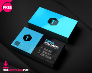 Creative Agency Business Card Psd | Freedownloadpsd with Calling Card Template Psd