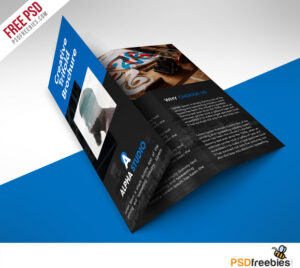 Creative Agency Trifold Brochure Free Psd Template throughout Brochure 3 Fold Template Psd