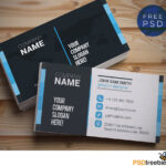 Creative And Clean Business Card Template Psd | Psdfreebies in Free Complimentary Card Templates