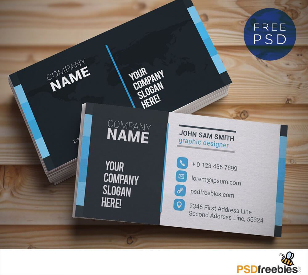 Creative And Clean Business Card Template Psd   Psdfreebies In Free Complimentary Card Templates