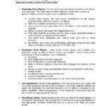 Creative Book Report Ideashialeah Gardens High School For One Page Book Report Template